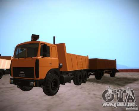 6317 MAZ for GTA San Andreas left view