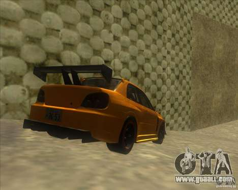 Subaru Impreza STi tuned for GTA San Andreas back left view