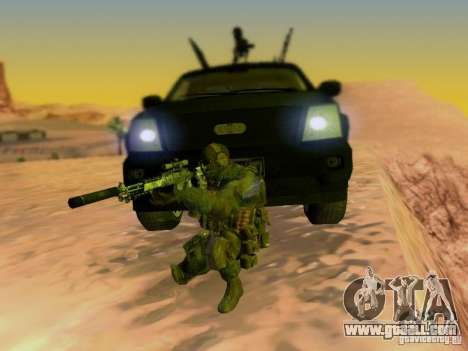 Suv Call Of Duty Modern Warfare 3 for GTA San Andreas engine