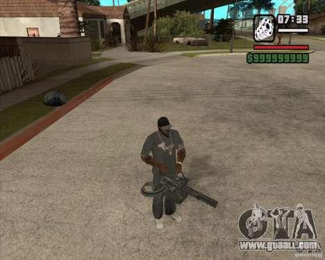 Hand Held M134 Minigun for GTA San Andreas forth screenshot