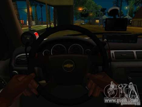 Chevrolet Tahoe Texas Highway Patrol for GTA San Andreas back view