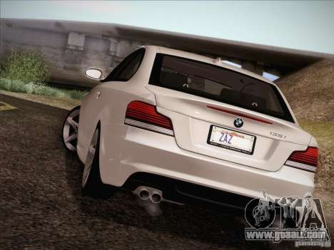 BMW 135i for GTA San Andreas upper view
