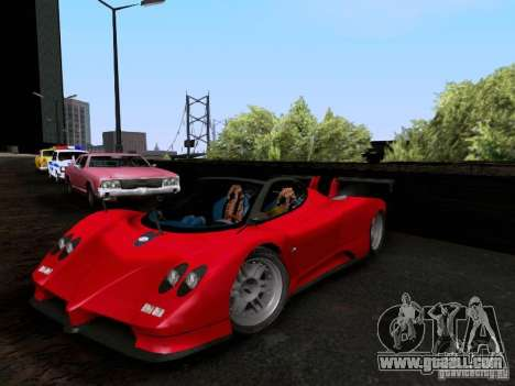 Pagani Zonda EX-R for GTA San Andreas back view