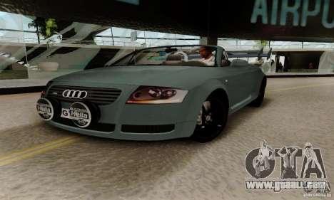 Audi TT Roadster for GTA San Andreas inner view