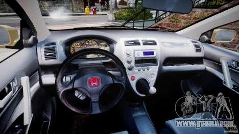 Honda Civic Type R 2005 for GTA 4 back view