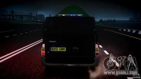 Ford Transit SWAT for GTA 4 interior