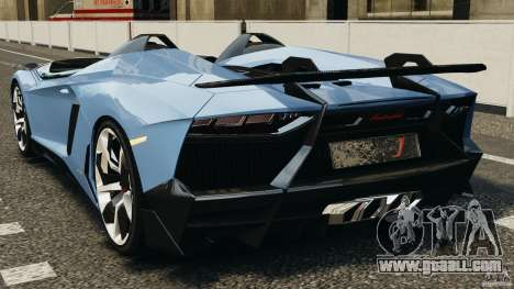 Lamborghini Aventador J 2012 for GTA 4 back left view