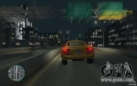 Audi R8 4.2 FSI for GTA 4 left view