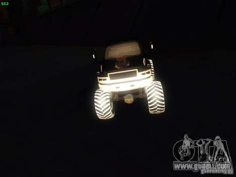 GMC Monster Truck for GTA San Andreas right view
