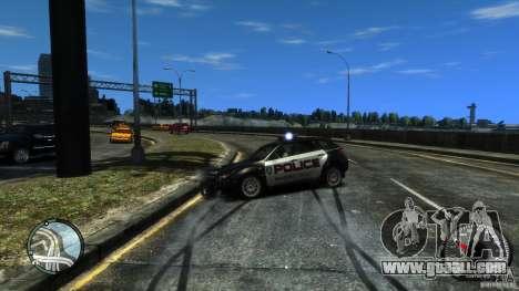Subaru Impreza WRX STI Police for GTA 4 inner view