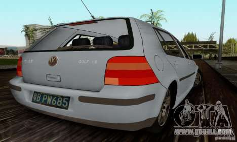 Volkswagen Golf 4 1.6 for GTA San Andreas back left view
