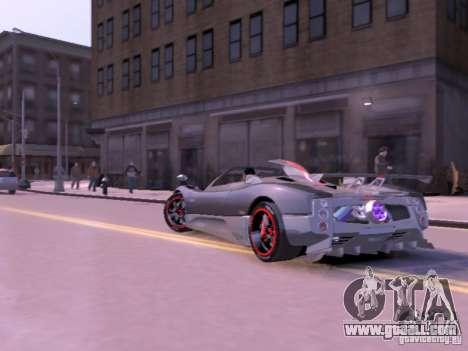 Pagani Zonda Cinque Roadster v 2.0 for GTA 4 back view