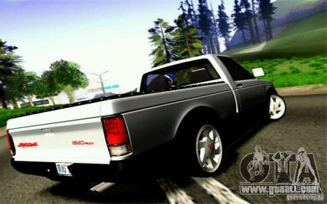 GMC Syclone Stock for GTA San Andreas inner view