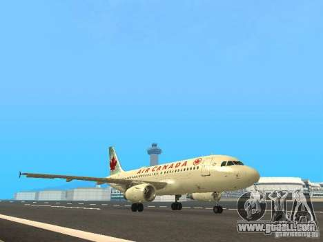Airbus A319 Air Canada for GTA San Andreas left view