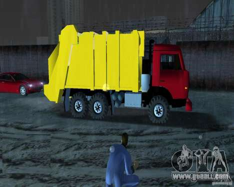 Kamaz Garbage Truck for GTA Vice City left view
