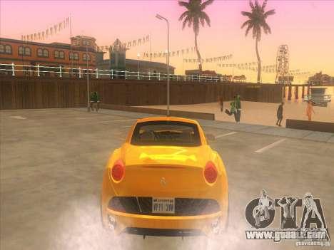 Ferrari California for GTA San Andreas right view