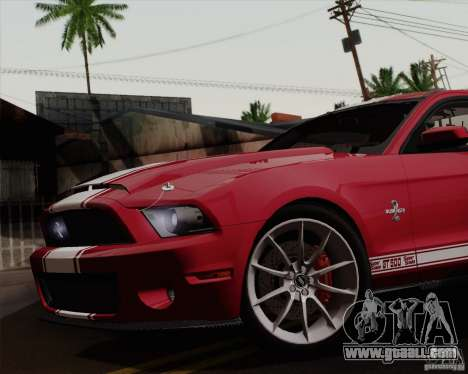 Ford Shelby GT500 Super Snake 2011 for GTA San Andreas back left view