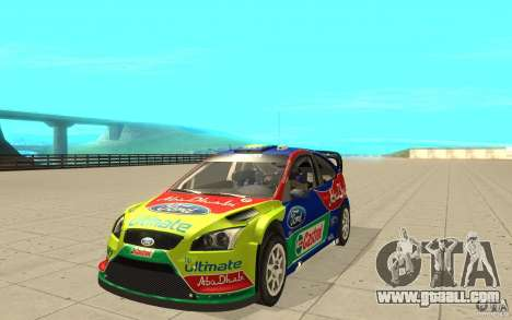2 painting works for the Ford Focus RS WRC 08 for GTA San Andreas