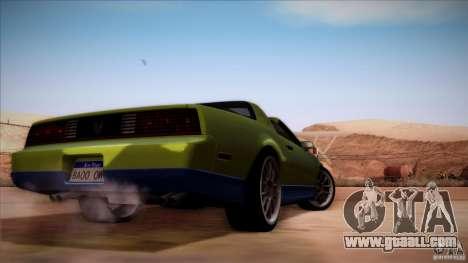 Pontiac Firebird Trans Am for GTA San Andreas right view