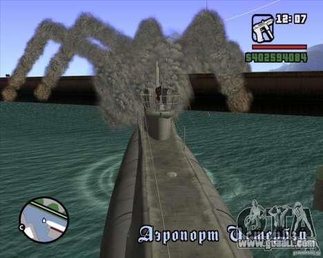 U99 German Submarine for GTA San Andreas seventh screenshot