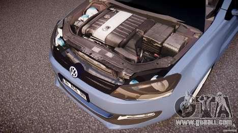 Volkswagen Polo 2011 for GTA 4 bottom view