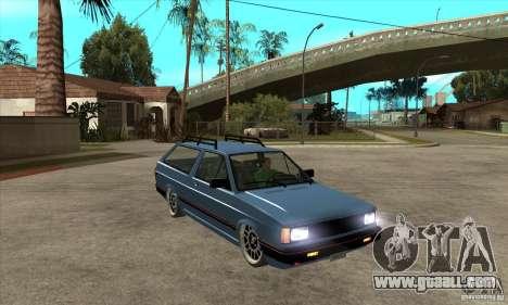 VW Fox 1989 v.2.0 for GTA San Andreas back view