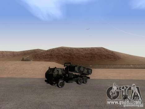 M142 HIMARS Artillery for GTA San Andreas right view