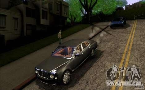 Bentley Mulsanne 2010 v1.0 for GTA San Andreas upper view