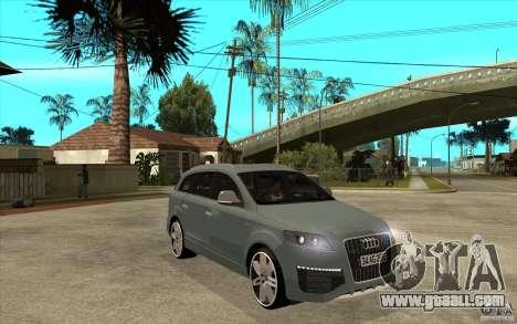 Audi Q7 V12 TDI 2011 for GTA San Andreas back view