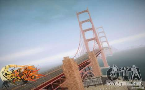 New Golden Gate bridge SF v1.0 for GTA San Andreas forth screenshot