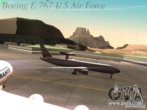 Boeing E-767 U.S Air Force for GTA San Andreas inner view