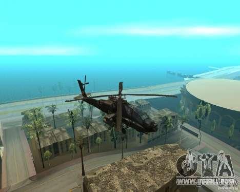 Ka-50 Black Shark for GTA San Andreas left view