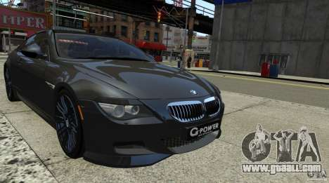 BMW M6 Hurricane RR for GTA 4 back left view