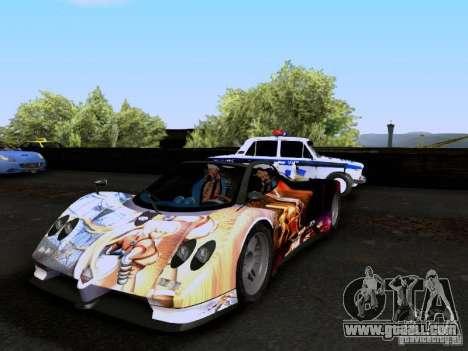 Pagani Zonda EX-R for GTA San Andreas bottom view
