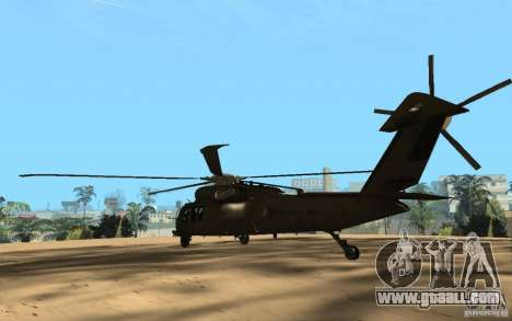 UH-60 Silent Hawk for GTA San Andreas back left view