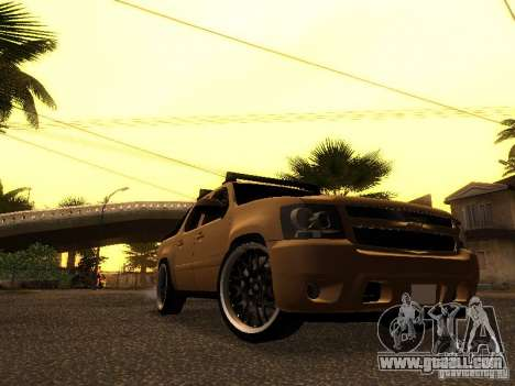 Chevrolet Avalanche Tuning for GTA San Andreas left view