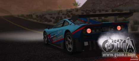 McLaren F1 JGTC Tuning 1995 for GTA San Andreas inner view