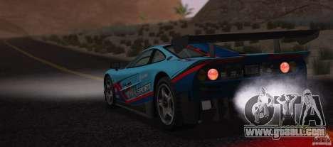 McLaren F1 JGTC Tuning 1995 for GTA San Andreas inner view