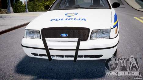 Ford Crown Victoria Croatian Police Unit for GTA 4 bottom view