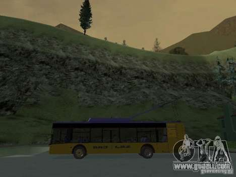 Trolleybus LAZ e-183 for GTA San Andreas upper view