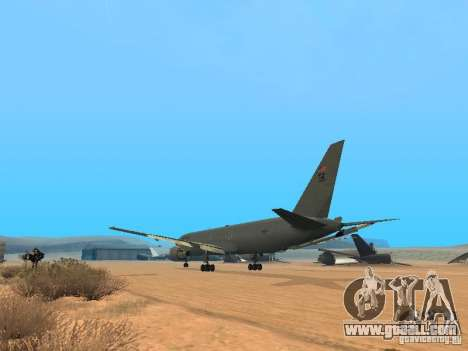 Boeing KC767 U.S Air Force for GTA San Andreas back left view