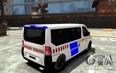 Opel Vivaro Hungarian Police Van for GTA 4 right view