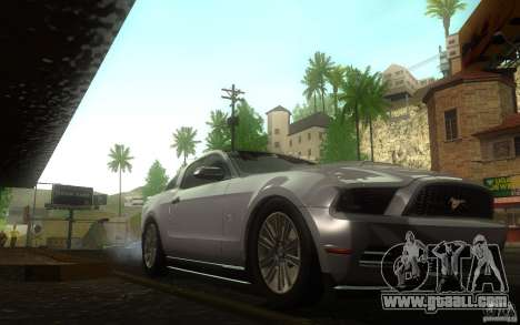 Ford Mustang GT V6 2011 for GTA San Andreas back view