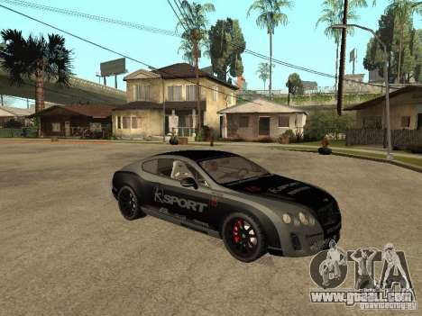 Bentley Continental SS Skin 4 for GTA San Andreas right view