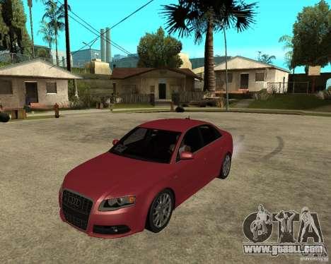 Audi S4 tunable for GTA San Andreas