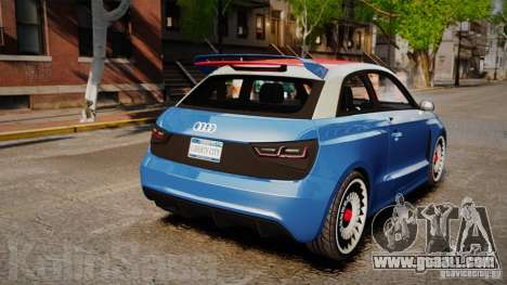 Audi A1 Quattro for GTA 4 back left view