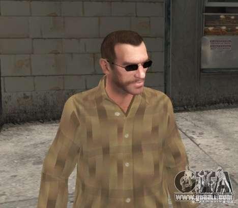 New glasses for Niko-black for GTA 4 third screenshot