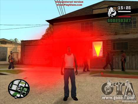 CJ ghost 1 VERSION for GTA San Andreas second screenshot