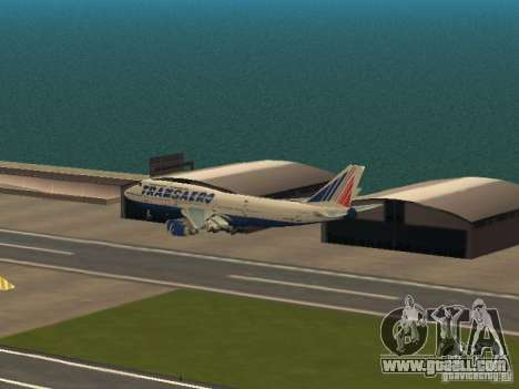 Boeing 747-400 for GTA San Andreas side view