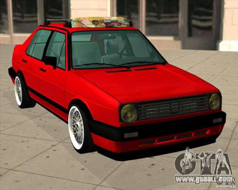 Volkswagen Jetta 1987 Eurostyle for GTA San Andreas back left view